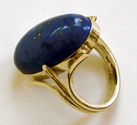 Lapis Lazuli and 14 karat Gold Ring