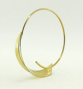 Leaf Hoop 14 Karat Gold Earrings