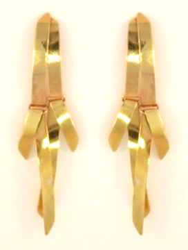 Double Ribbon Earring in 14 Kt. Gold