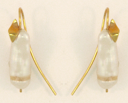 Pearl and Stone Branch Earring