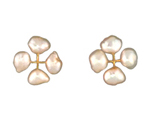 Quad Pearl Earring in 14 kt. Gold and Freshwater Cultured Pearl