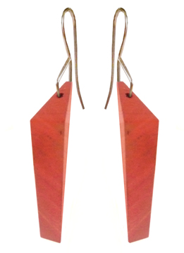 Red Jasper Polyhedron Earring