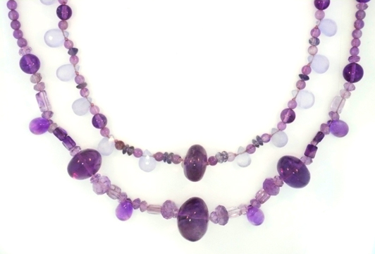 Two amethyst necklaces