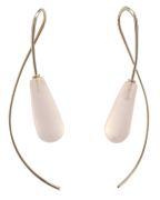 Stone Sweep Earring in Frosted Rock Crystal and 14 kt. Gold
